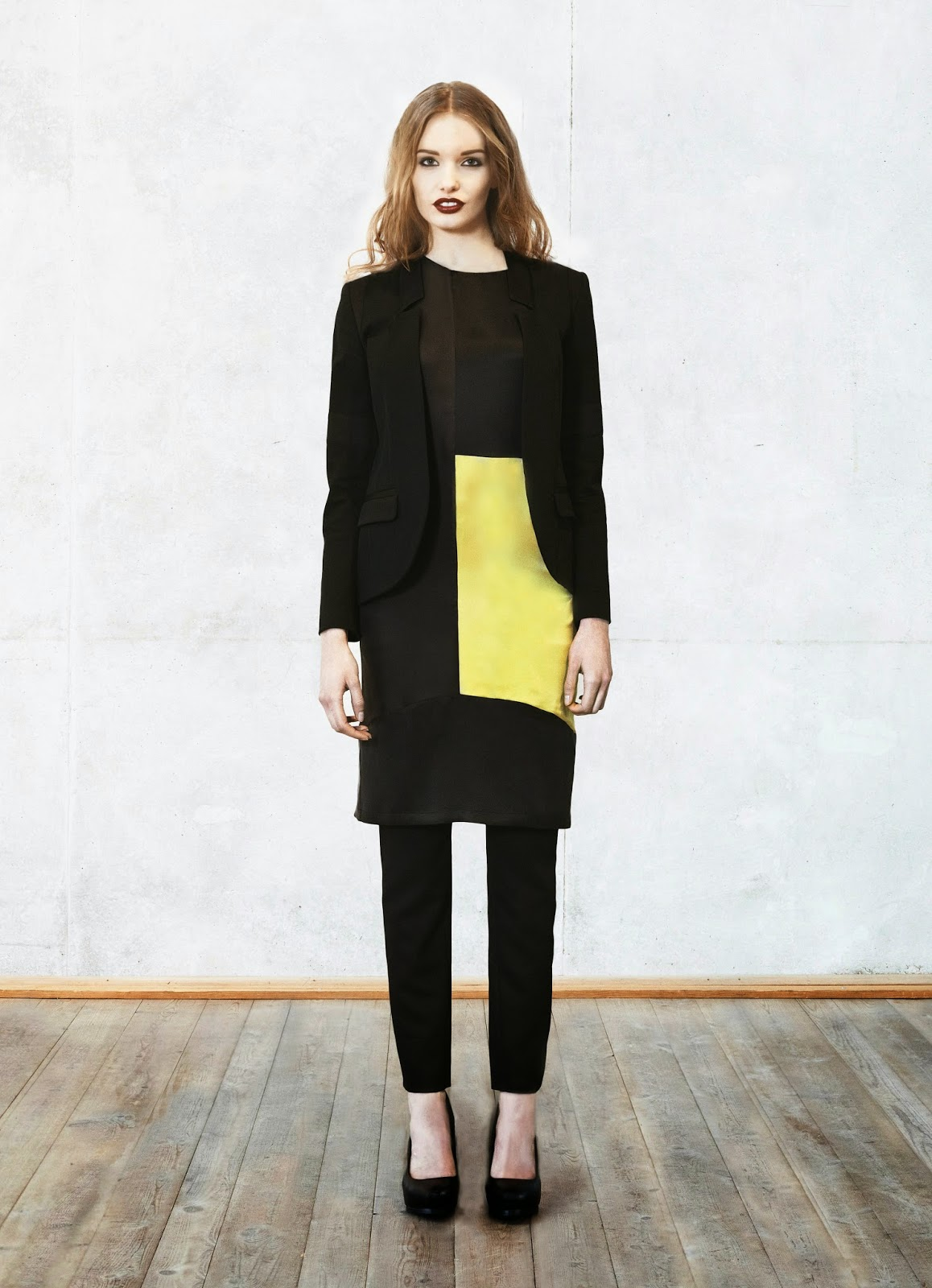 shirt dress, black and yellow shift dress