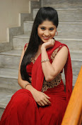 Ziya Khan Glamorous Photos in Red-thumbnail-15