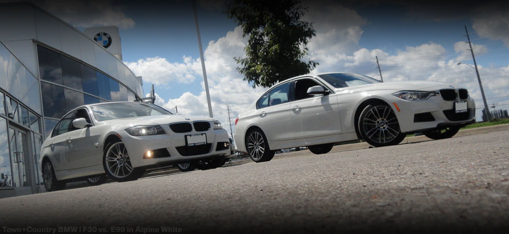 town country bmw mini markham blog visual comparison bmw e90 vs bmw f30. Black Bedroom Furniture Sets. Home Design Ideas