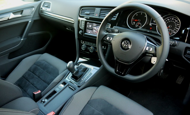 VW Golf 7 GT front interior