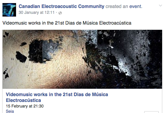 Videomusic concert - Dias de Música Electroacústica 21 - CEC