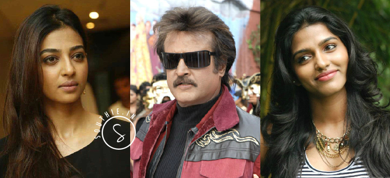Radhika Apte plays rajinikanth's wife and Dhanshika plays Rajinikanth's Daughter. Hot Radhika APte, Hot Dhanshika, in Kabali,