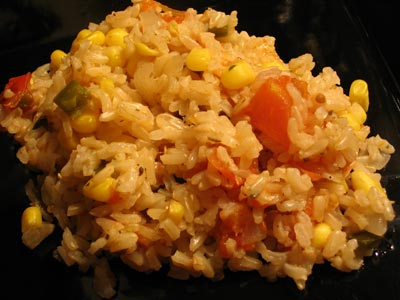 Tomato Brown Rice and Corn