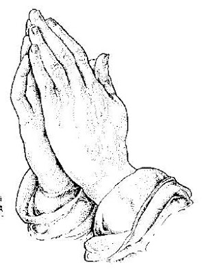 Praying Hands For Lord Coloring Page