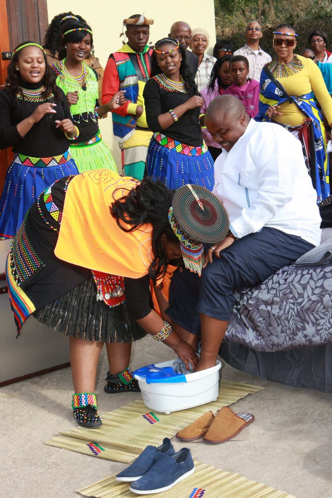 Washing his fee... Feet Washing At Wedding