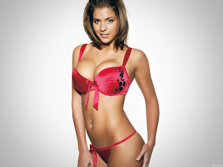 Gemma Atkinson lingerie hot red string bikini panties bra model high quality HD image