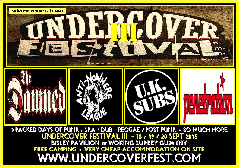 headline acts for Undercover Festival III 2015