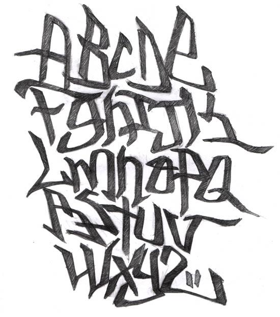 Unique graffiti word art