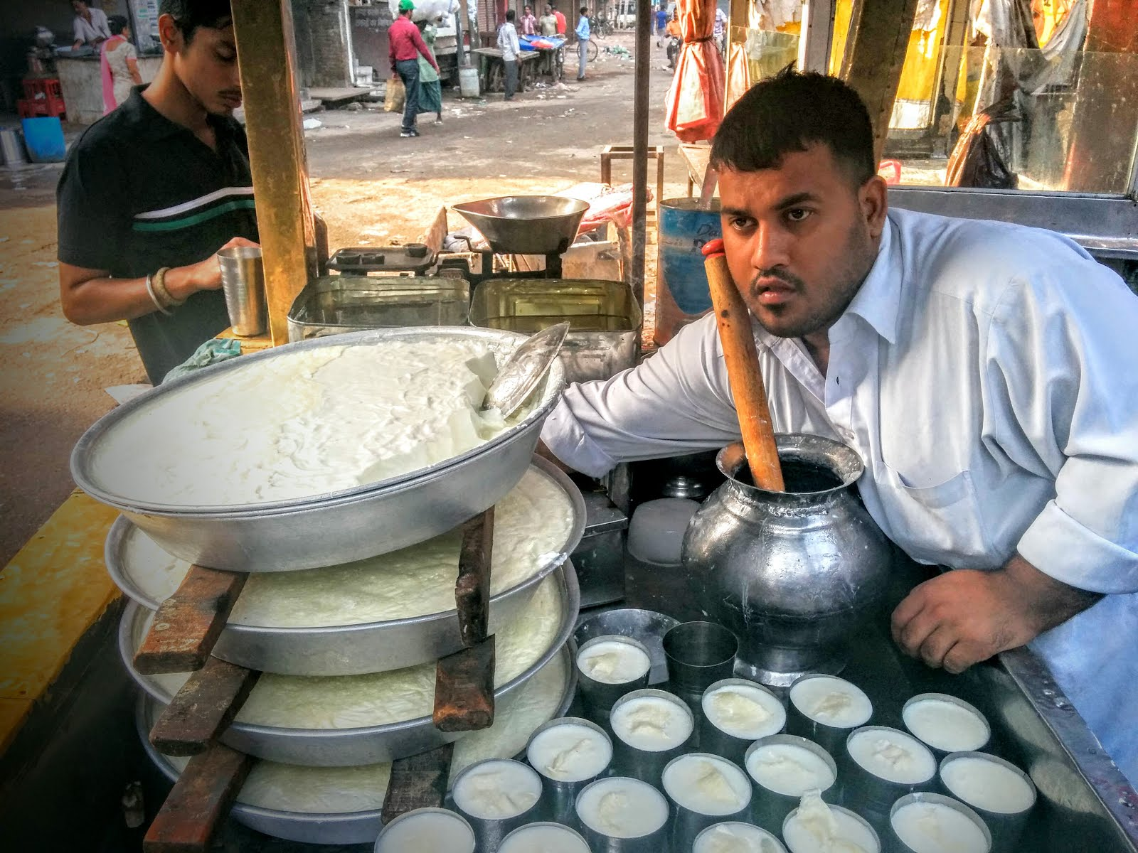 Freshly made Lassi on the streets of Amritsar