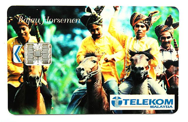 kad telefon awam Telekom Malaysia - Bajau Horsemen