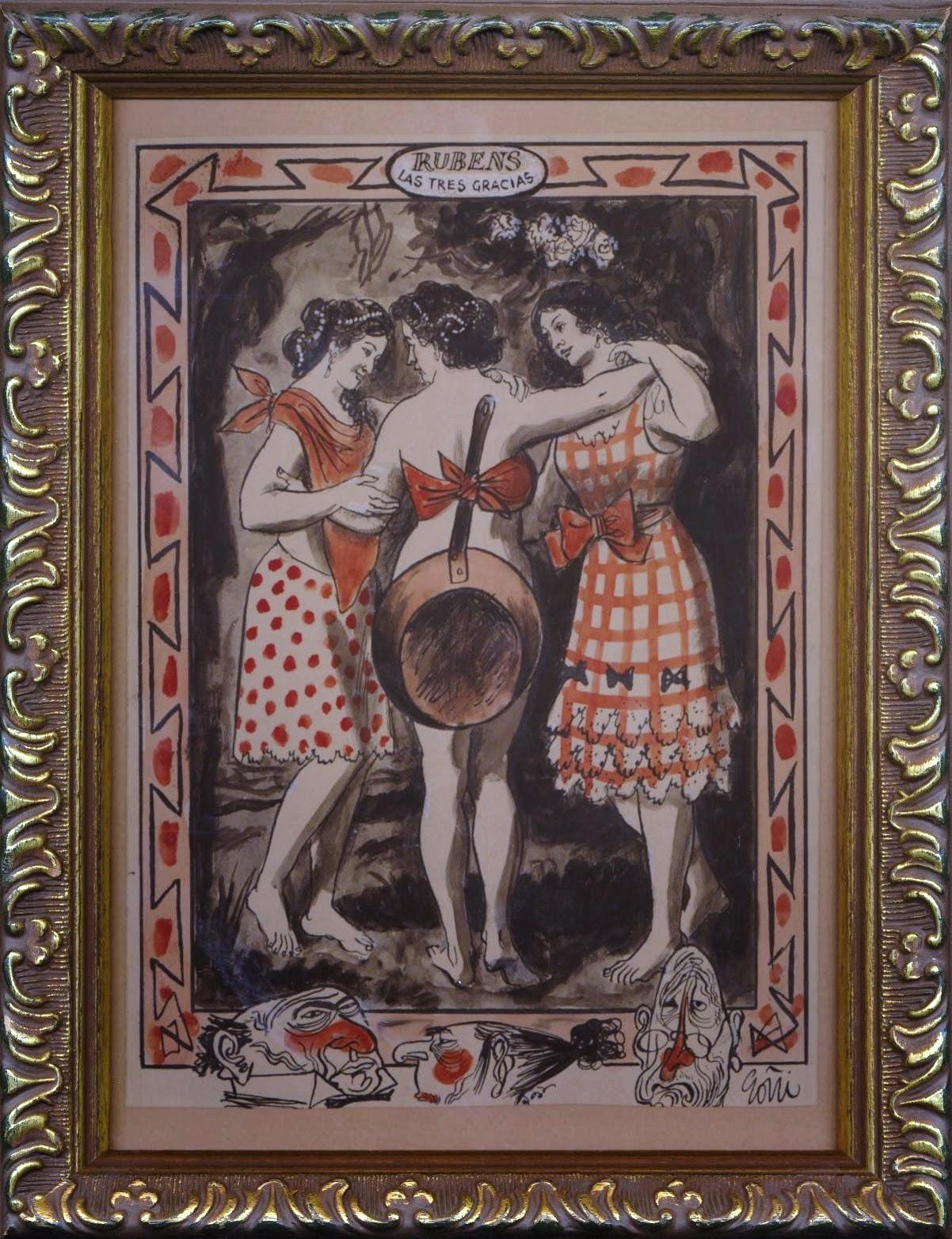 """""""Las Tres Gracias"""" Rubens. La Codorniz"""