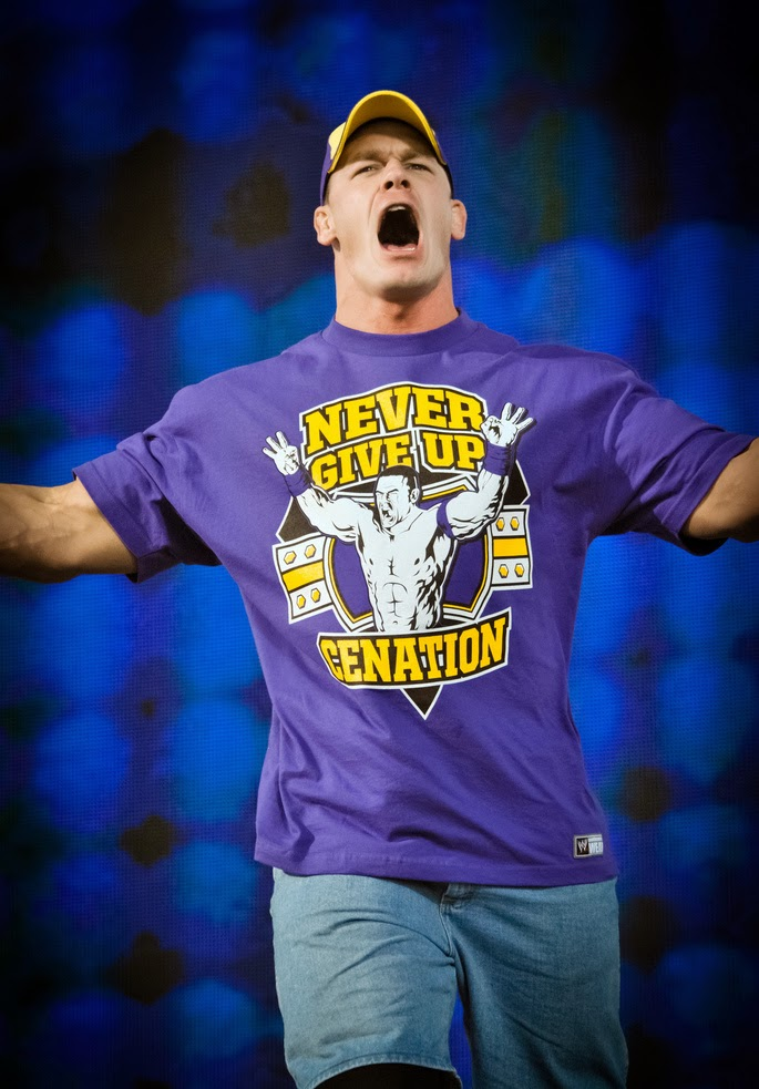 Never Give Up Cenation Shirt Purple