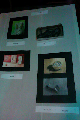 photo of my stand on my first art exhibition