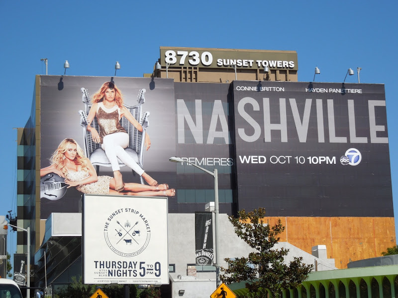 Nashville billboard Sunset Strip