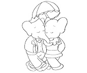 #8 Babar Coloring Page
