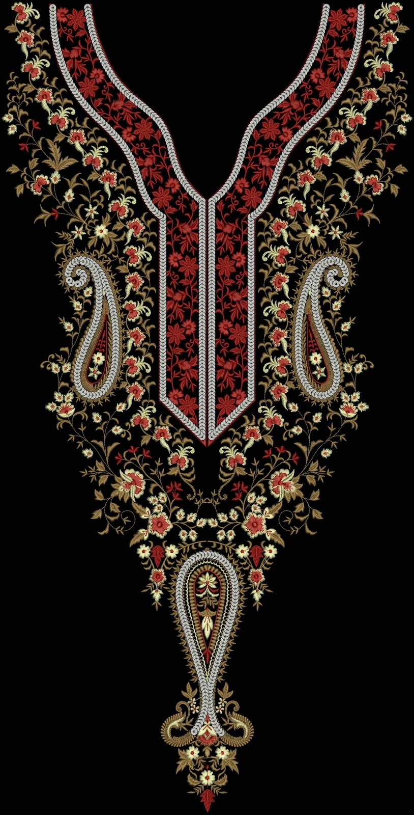 Embdesigntube Heavy Neck Embroidery Designs Collection By Kalyar Jani