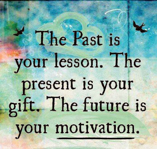 the past is your lesson, the present is your gift and the future is your motivation