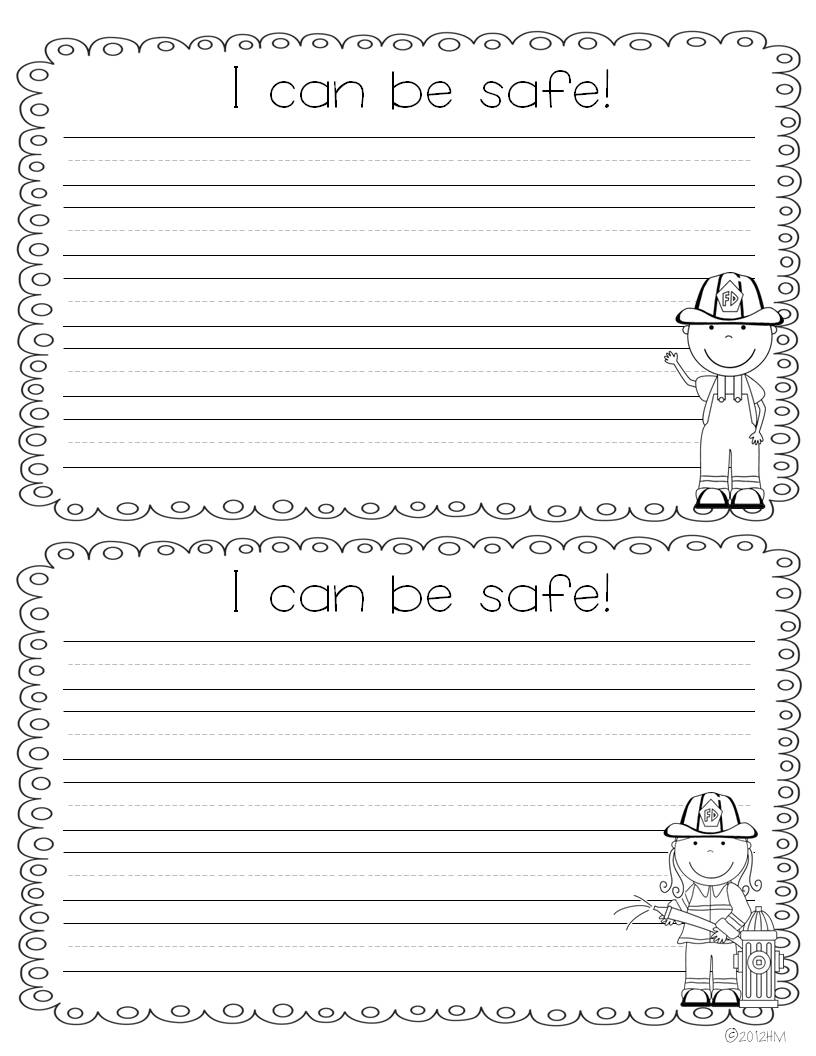 worksheet Fire Safety Worksheet fire safety week miss kindergarten i also created some fun writing templates for students to write about how they can stay safe and their plans