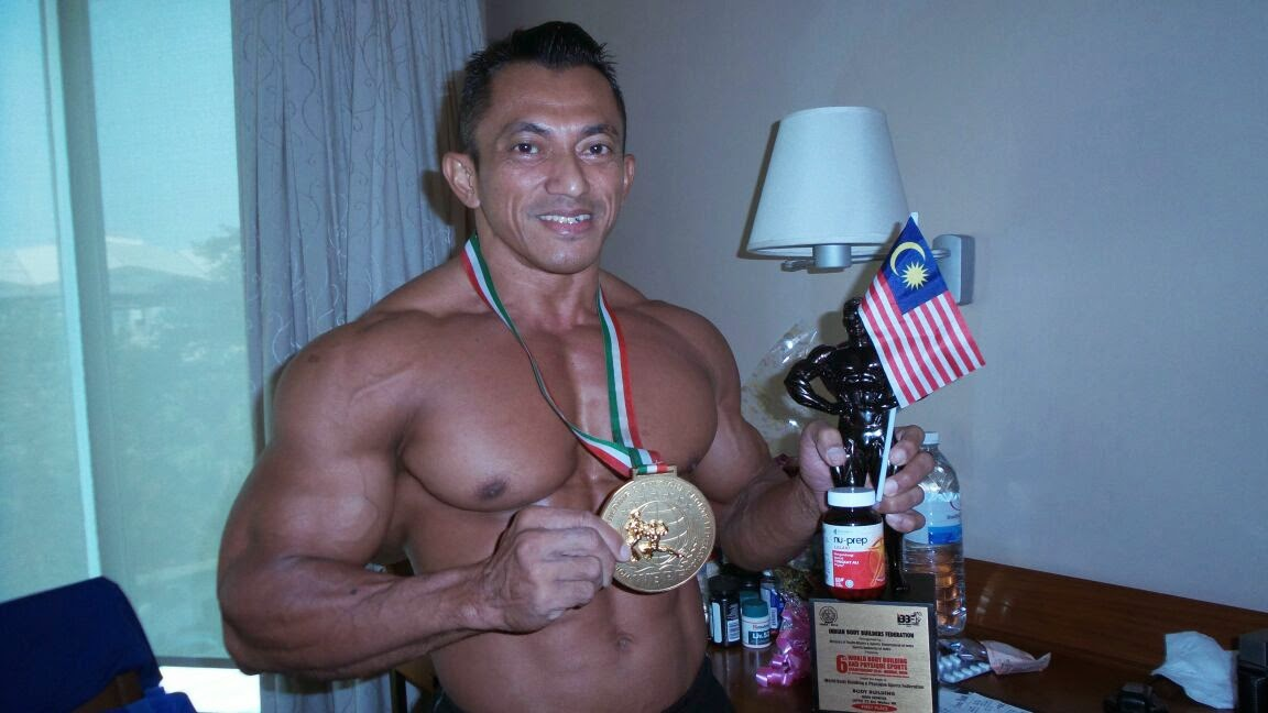 World Record - MALAYSIA BOLEH  '10 time Mr Universe and 9th time Mr Asia, SAZALI SAMAD