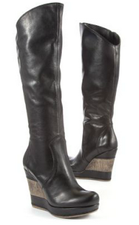 Moda in Pelle layered wedge heel boot