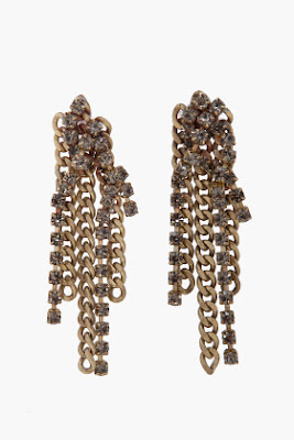 Chain &amp; Rhinestone Earrings
