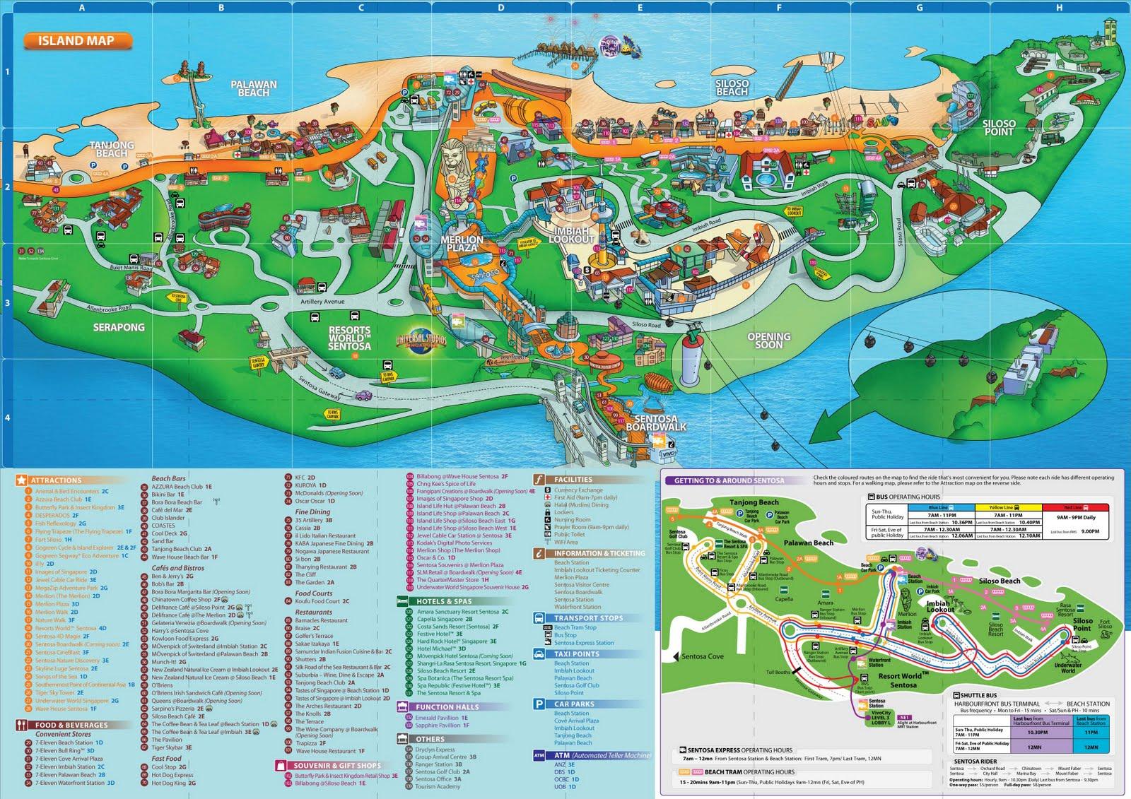 Sentosa casino map