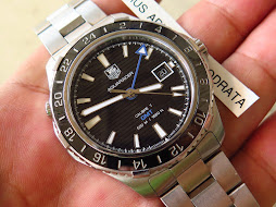 TAG HEUER AQUARACER GMT 500m CALIBRE 7 - BLACK DIAL CERAMIC BEZEL - AUTOMATIC