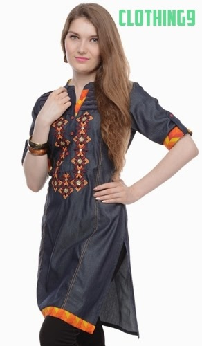 Fashion of Denim Kurtis