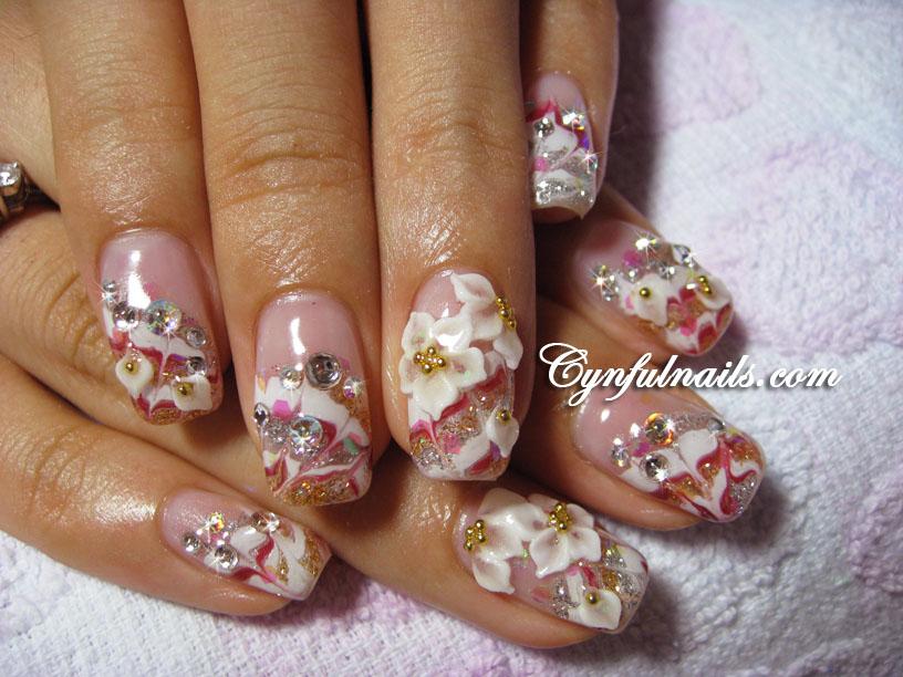 Cynful Nails: More bridal nails~