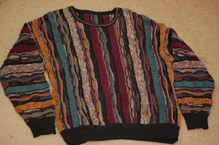 colorful sweater to be up-cycled