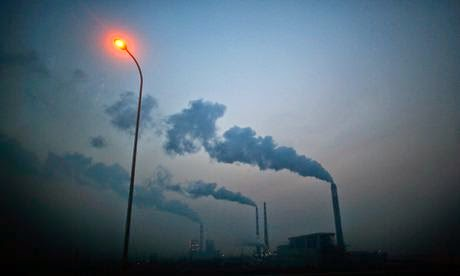 Smoke rises from the chimneys of a power plant near Shanghai, China. Carbon emissions emissions grew 2.2% a year on average between 2000 and 2010. (Credit: Carlos Barria/Reuters) Click to enlarge.
