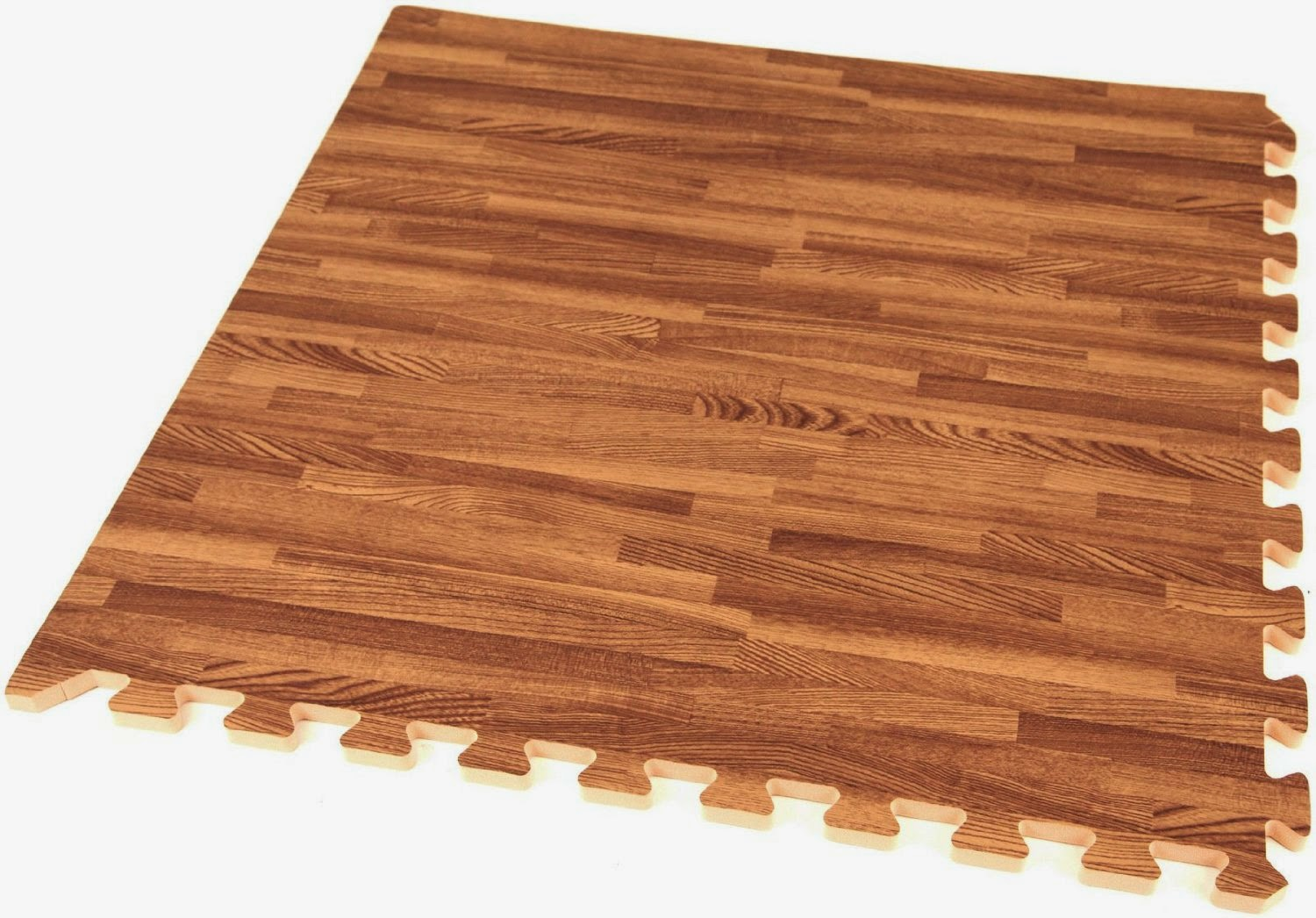 grosgrain interlocking faux wood puzzle mats