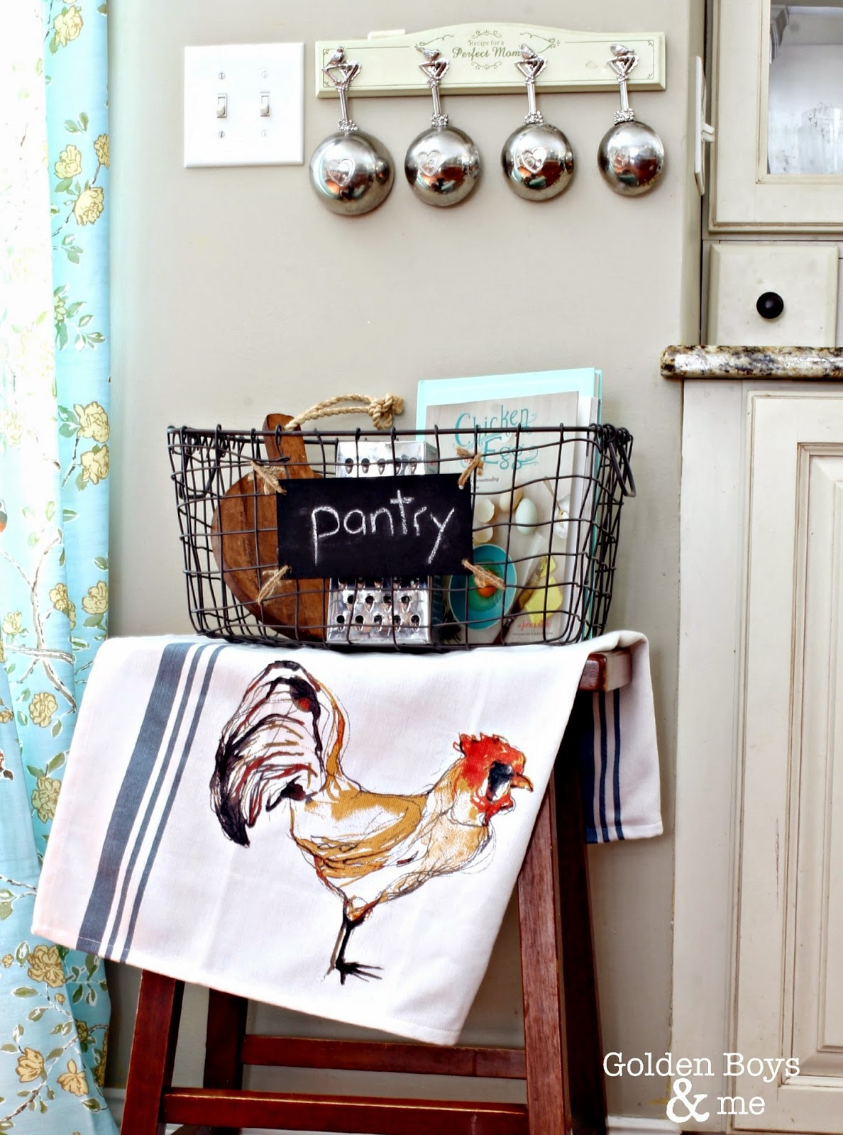 Wire pantry basket for kitchen storage-www.goldenboysandme.com