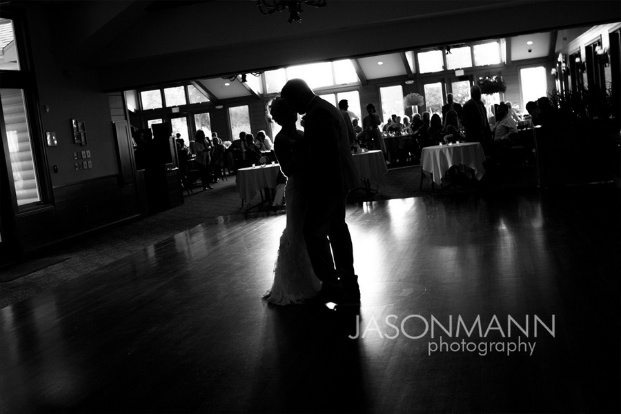 Door County wedding reception; bride and groom dancing. Photo by Jason Mann Photography, 920-246-8106, www.jmannphoto.com