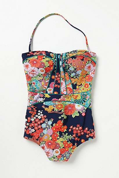 floral bathing suit - anthropologie