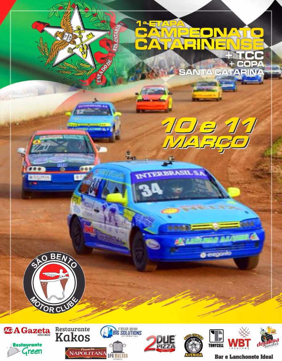1ª etapa CCA, 1ª etapa TCC e 1ª etapa Copa SC