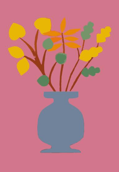 """Аппликация """"Осенний букет в вазе"""""""