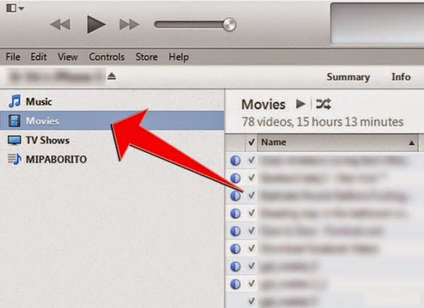 how to put movies on iphone itunes