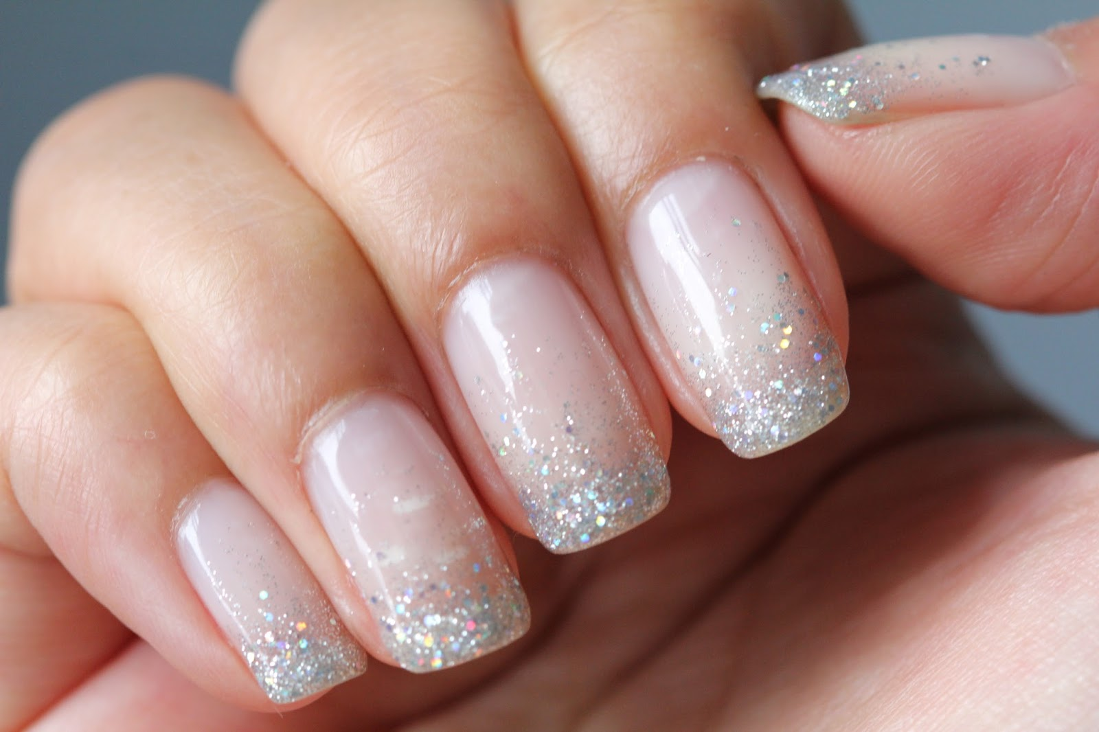 dsk steph s nails glitter waterfall shellac nails