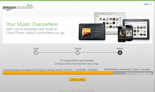 screen cap of Amazon Music Importer