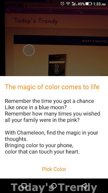 Chameleon app in action