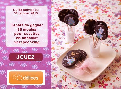 """25 moules à sucette en chocolat """"Scrapcooking"""""""