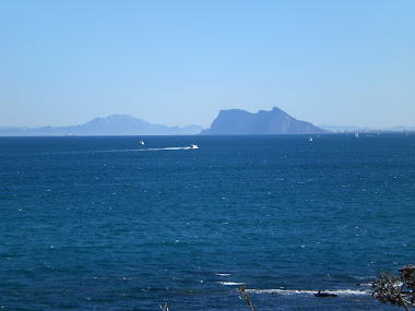 View to Gibraltar and Africa