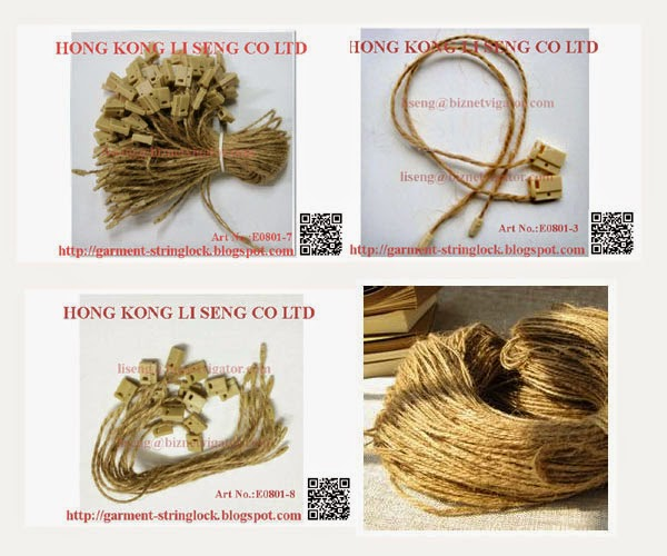 Natural Hemp Rope Hang Tag String Lock Pin Wholesale - Hong Kong Li Seng Co Ltd