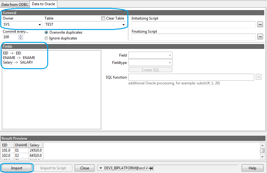 Journey with obiee import data from excel to oracle table - Create table in oracle sql developer ...