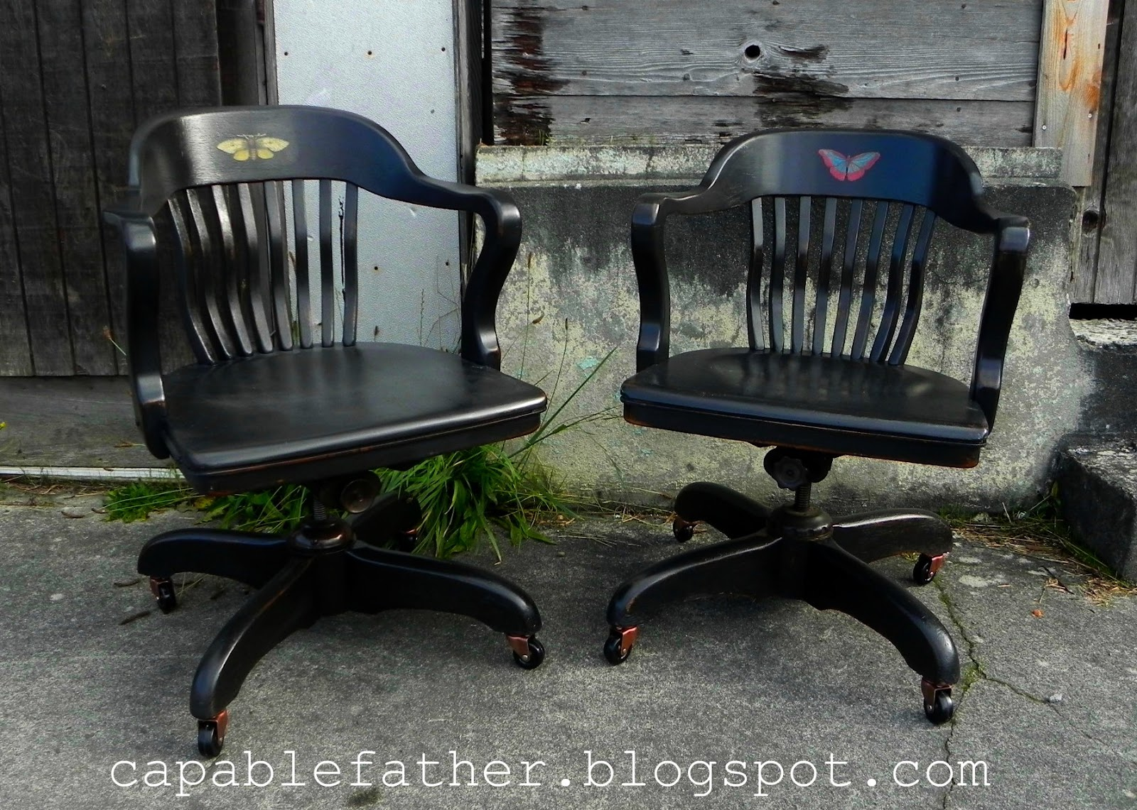 Epic Antique Office Chairs Before and After