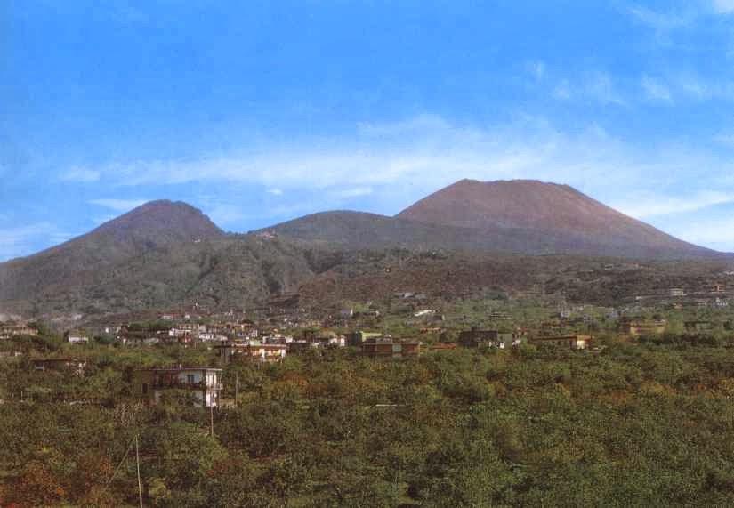Vesuv ved Napoli, Italien