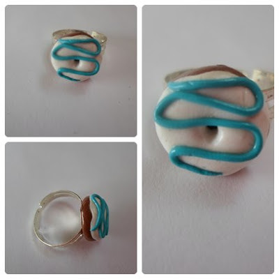 anillo donut fimo