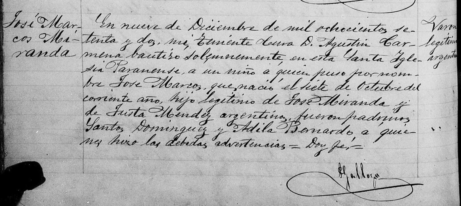 Libro de Familia: José Marcos Miranda, el militar
