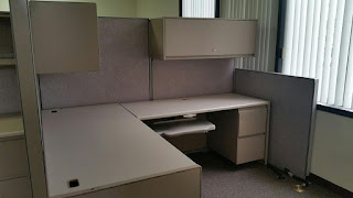 Used office cubicles by Steelcase
